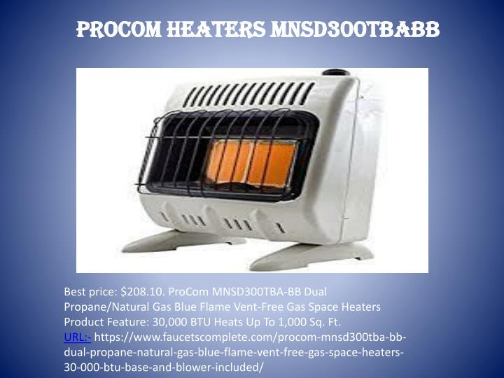 PROCOM HEATERS MNSD300TBABB