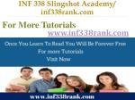 inf 338 slingshot academy inf338rank com11