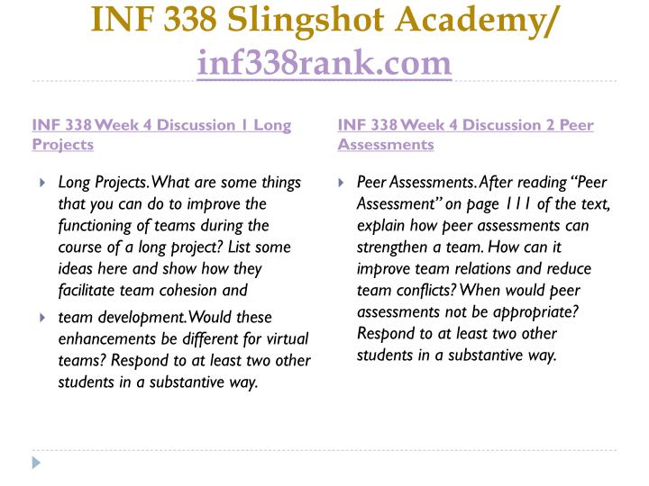 INF 338 Slingshot Academy/
