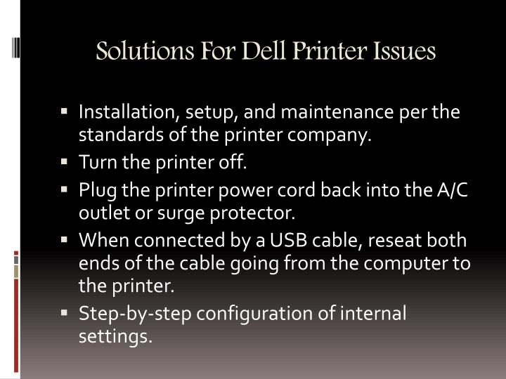 Solutions For Dell Printer Issues