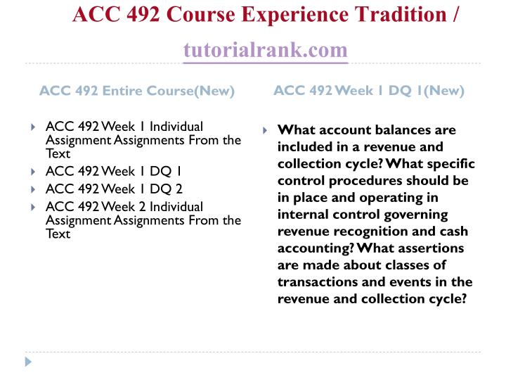 Acc 492 course experience tradition tutorialrank com1