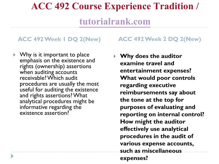 Acc 492 course experience tradition tutorialrank com2