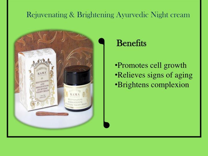 Rejuvenating & Brightening Ayurvedic Night cream