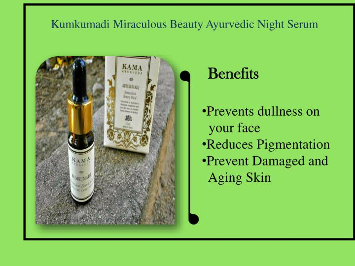 Kumkumadi Miraculous Beauty Ayurvedic Night Serum