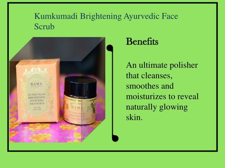 Kumkumadi Brightening Ayurvedic Face Scrub
