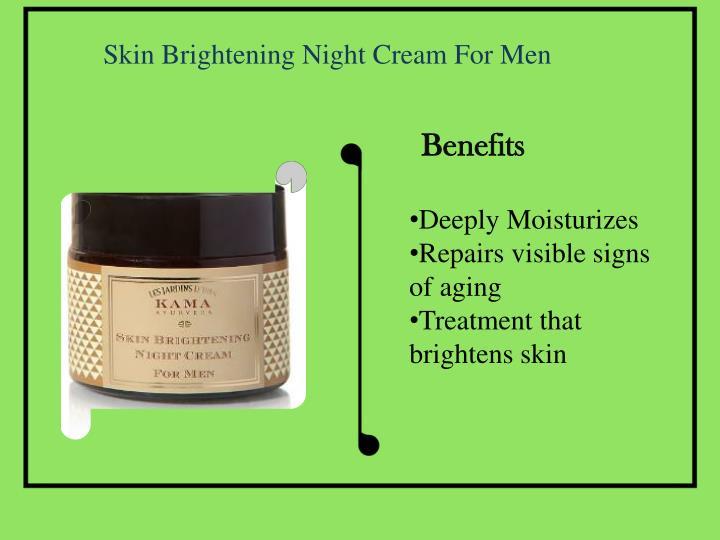 Skin Brightening Night Cream For Men