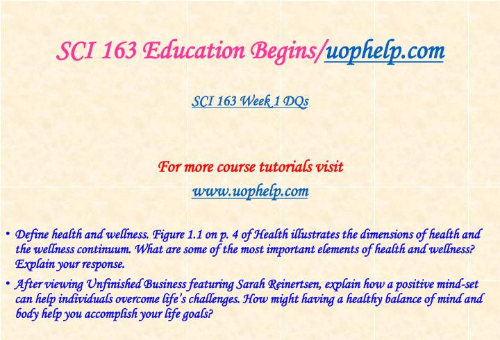 Sci 163 education begins uophelp com2