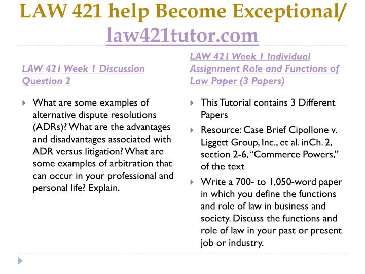 Law 421 help become exceptional law421tutor com2