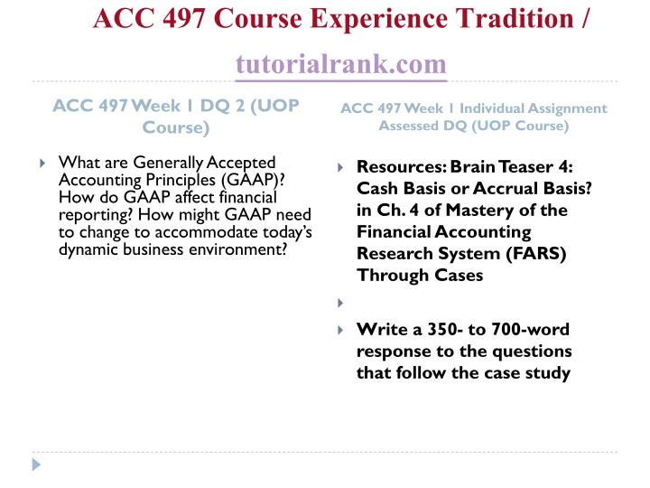 Acc 497 course experience tradition tutorialrank com2