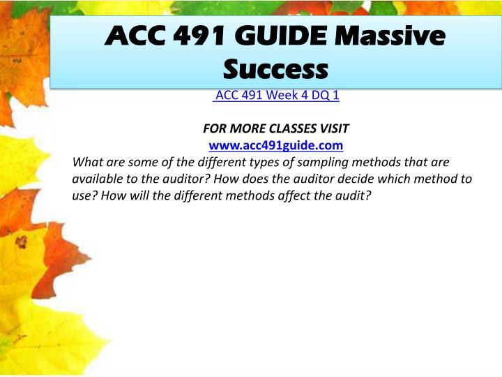 ACC 491 GUIDE Massive Success