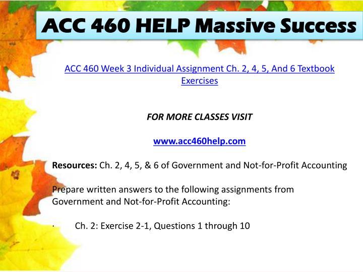 ACC 460 HELP Massive Success