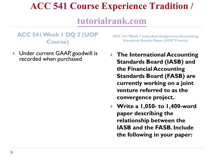 Acc 541 course experience tradition tutorialrank com2