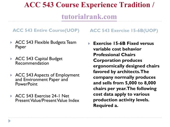 Acc 543 course experience tradition tutorialrank com2