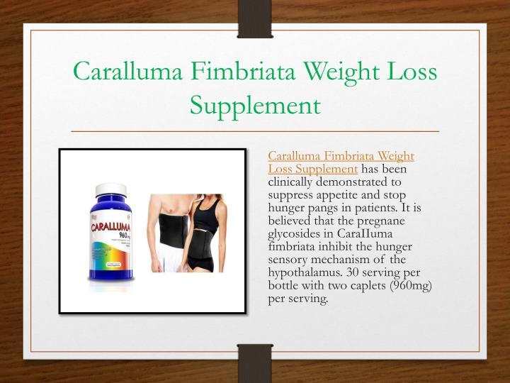 Caralluma Fimbriata Weight Loss Supplement