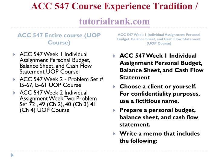 Acc 547 course experience tradition tutorialrank com1