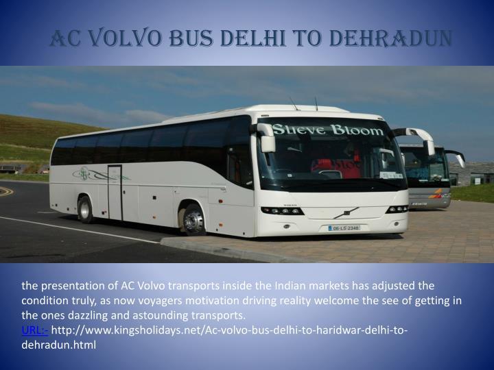 Ac Volvo Bus Delhi To