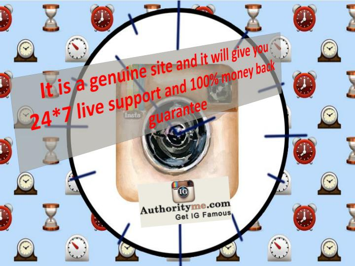 It is a genuine site and it will give you 24*7 live support and 100% money back guarantee