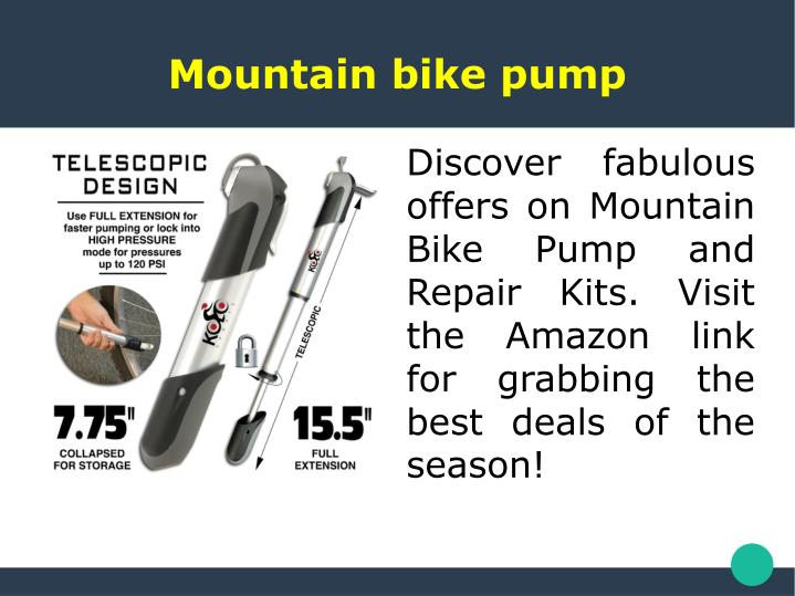 Mountain bike pump