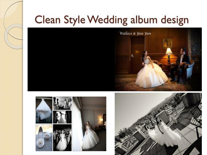 Clean Style Wedding album design