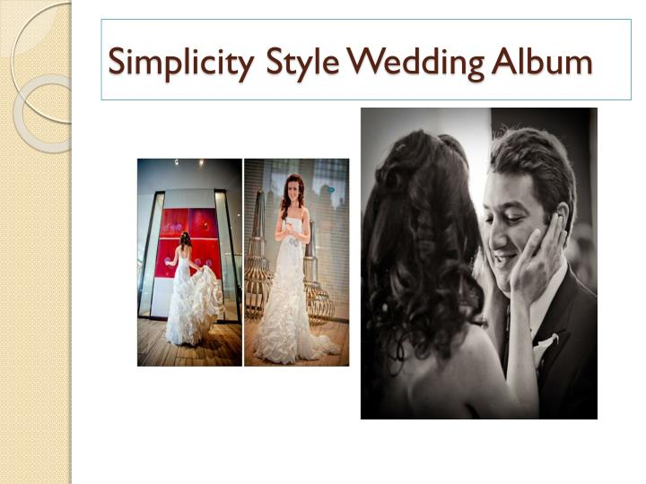 Simplicity Style Wedding Album
