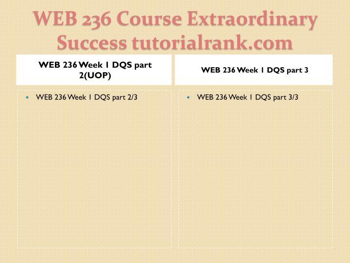 WEB 236 Week 1 DQS part 2(UOP)