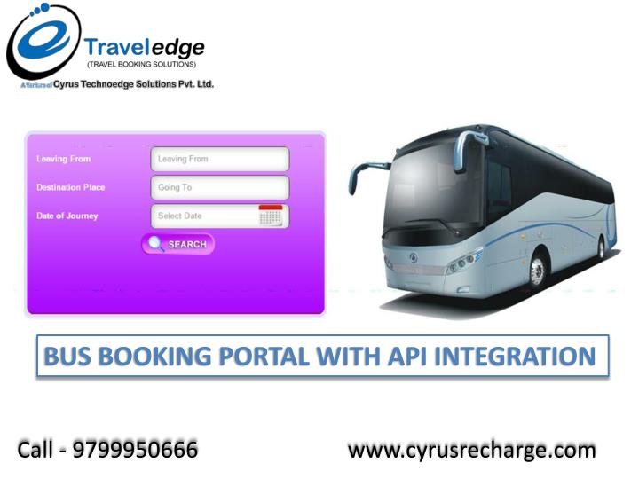 BUS BOOKING PORTAL WITH API INTEGRATION