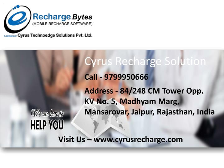 Cyrus Recharge Solution
