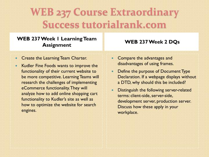 Web 237 course extraordinary success tutorialrank com2