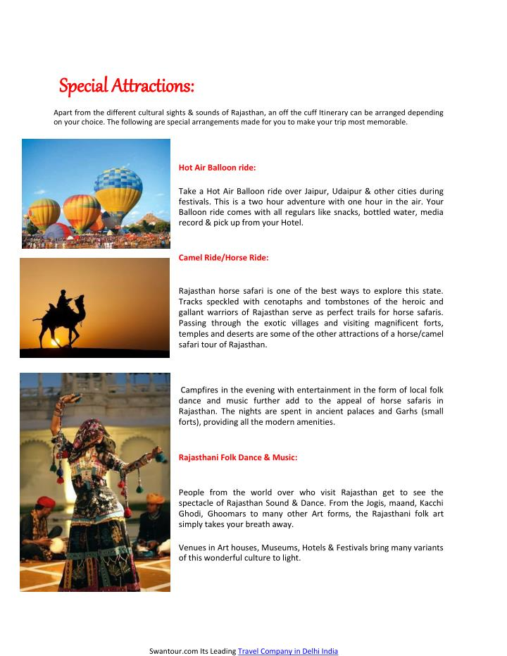 S Special Attractions: