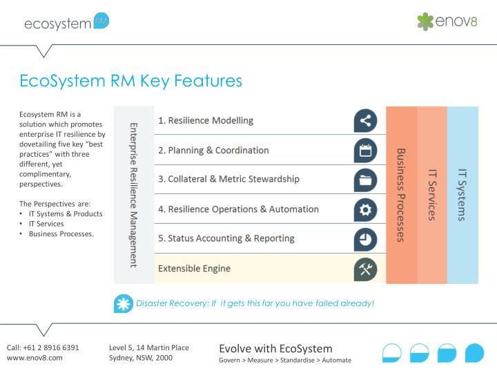 EcoSystem RM Key Features