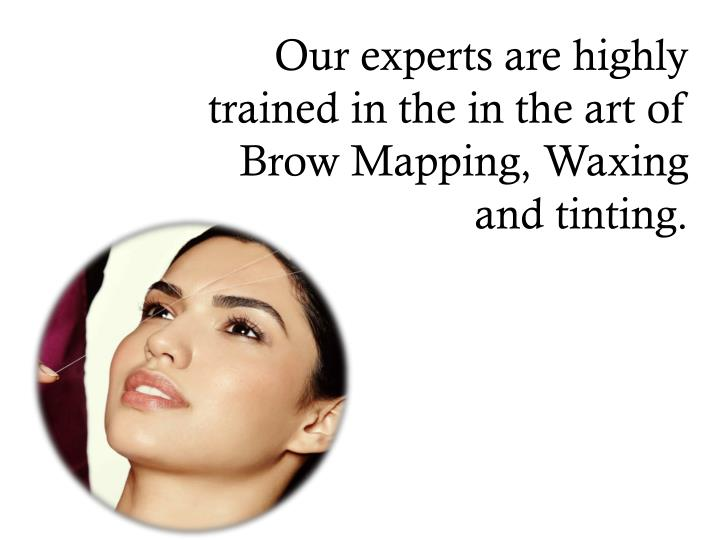 Our experts are highly trained in the in the art of Brow Mapping,