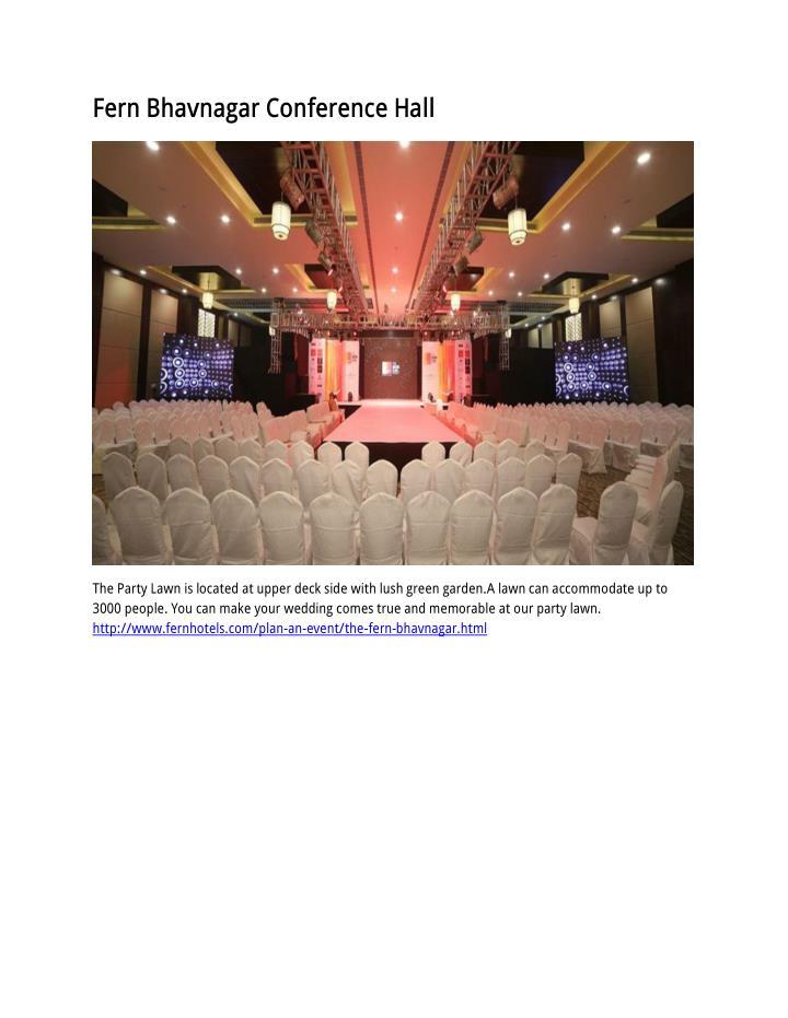 Fern Bhavnagar Conference Hall