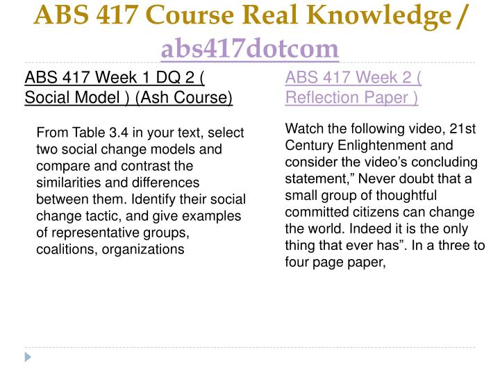 Abs 417 course real knowledge abs417dotcom2