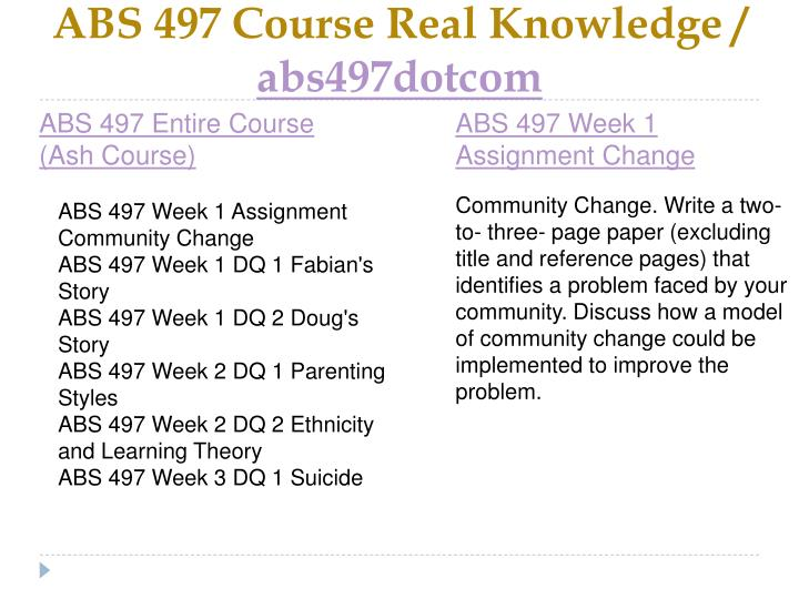 Abs 497 course real knowledge abs497dotcom1