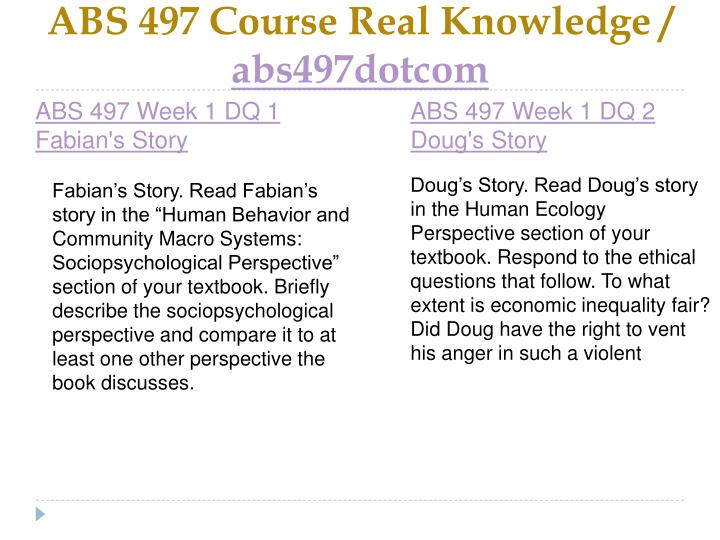 Abs 497 course real knowledge abs497dotcom2