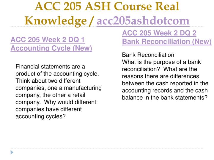 ACC 205 ASH Course Real Knowledge /