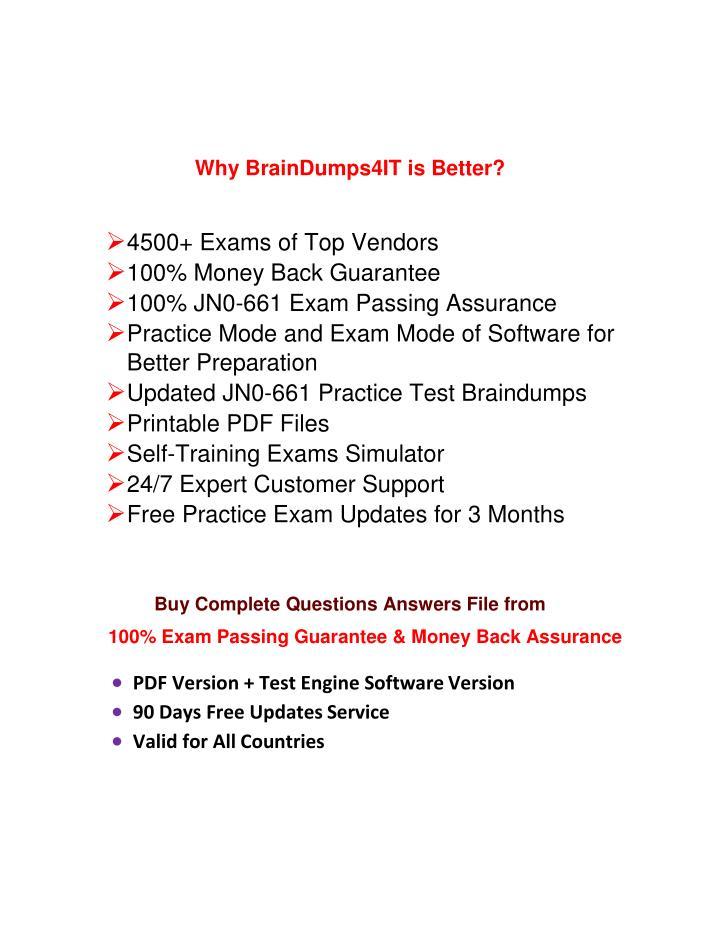 Why BrainDumps4IT is Better?