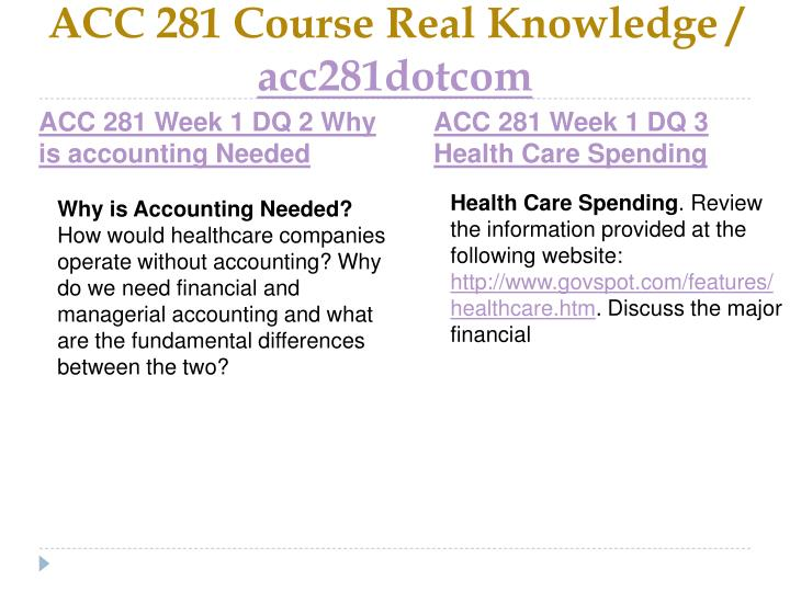Acc 281 course real knowledge acc281dotcom2