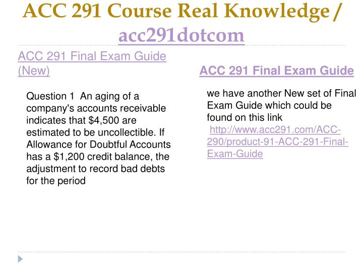 Acc 291 course real knowledge acc291dotcom1