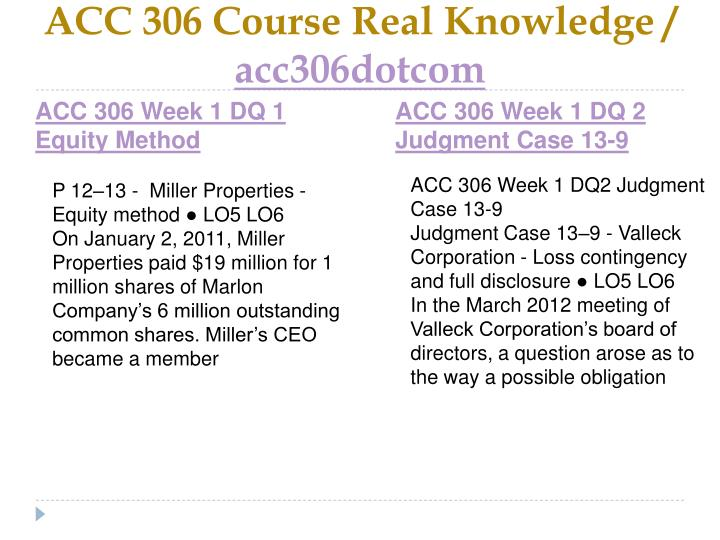 Acc 306 course real knowledge acc306dotcom2