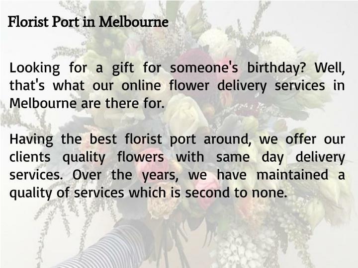 Florist Port in Melbourne