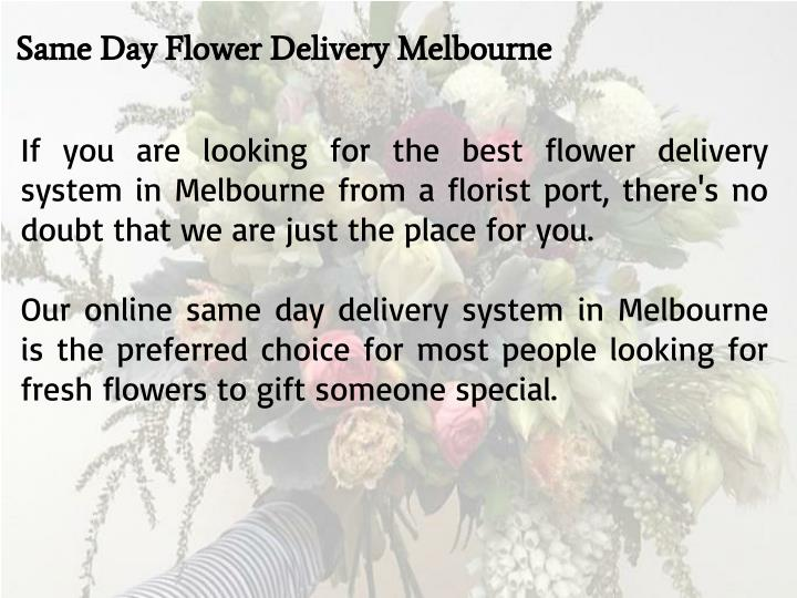 Same Day Flower Delivery Melbourne