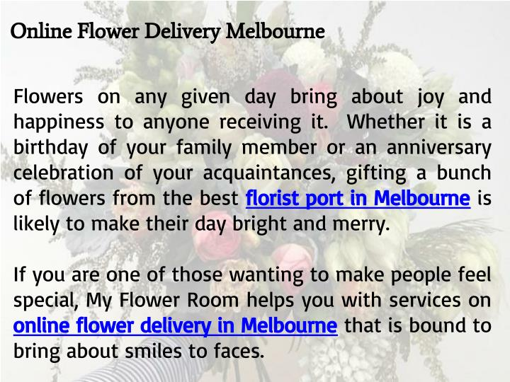 Online Flower Delivery Melbourne