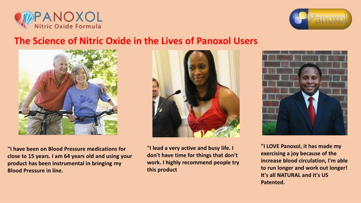 The Science of Nitric Oxide in the Lives of Panoxol Users