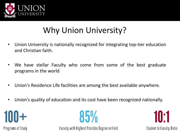 Why Union University?