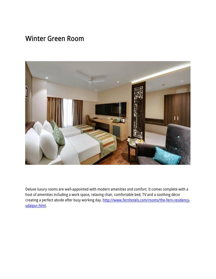 Winter Green Room