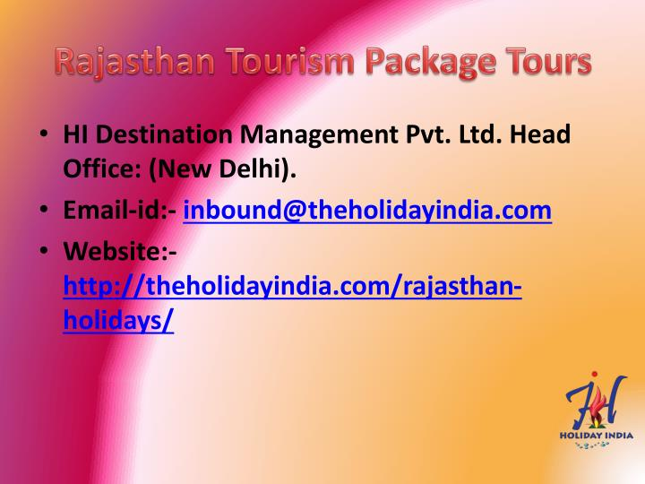 Rajasthan Tourism Package Tours