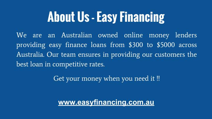 About Us - Easy Financing