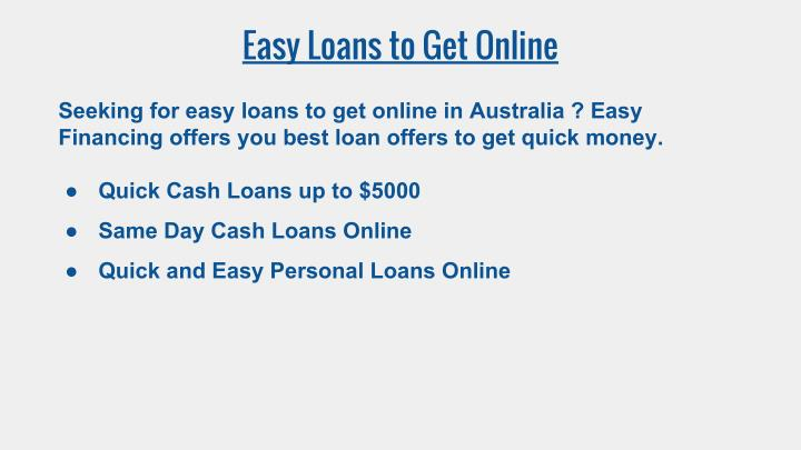 Easy Loans to Get Online