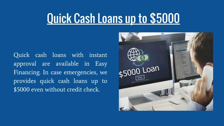 Quick Cash Loans up to $5000